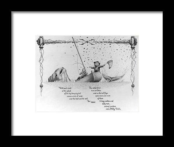 2 Framed Print featuring the drawing 2x2 by Vincent Jimenez