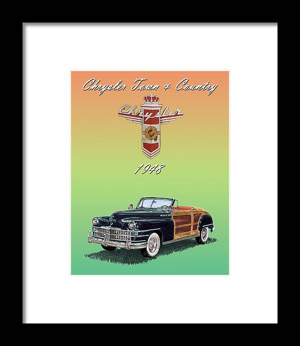 Framed Posters Of Chrysler Town & Country Convertibles.images Of 1941 Plymouth Woodies. Framed Photography Art Of Woody�s. Prints Of Cool Wood-paneled Station Wagons. Wrecked 1946 Ford Woody�s. Prints Of 1941 Plymouth Woodies. Prints Of 1941 Chrysler Town & Country Convertibles. Prints Of 1948 Ford Sportsmen Convertibles. Prints Of 1950 Ford Woody�s. Framed Print featuring the painting 1948 Chrysler Town And Country by Jack Pumphrey