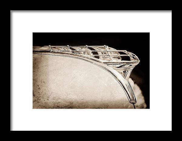 1950 Plymouth Hood Ornament Framed Print featuring the photograph 1950 Plymouth Hood Ornament by Jill Reger