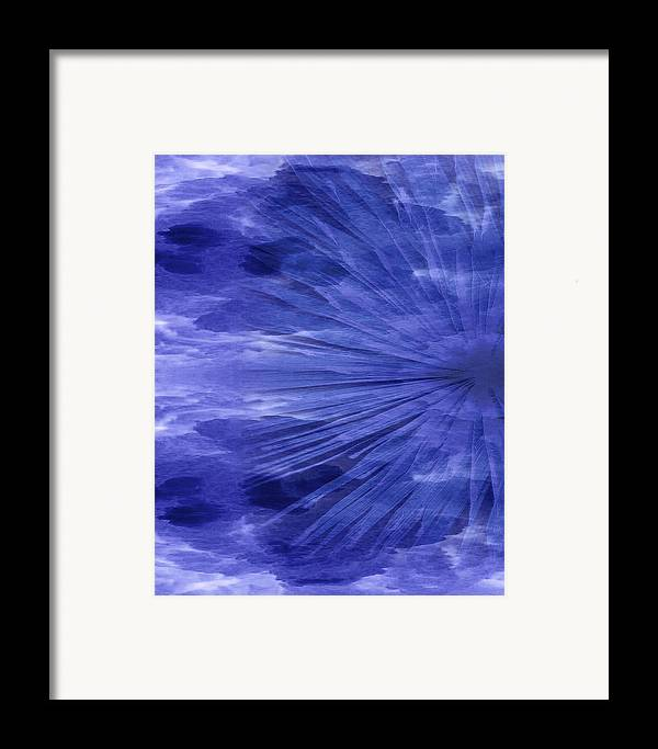 Original Framed Print featuring the painting Abstract 58 by J D Owen