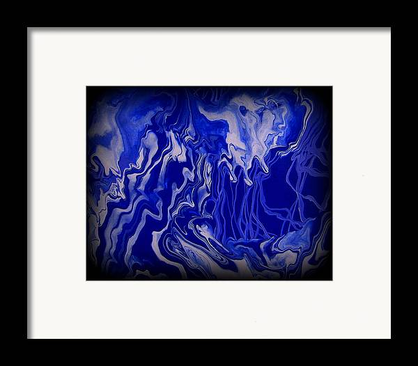 Original Framed Print featuring the painting Abstract 87 by J D Owen