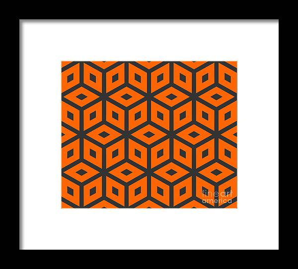 Delicate Framed Print featuring the digital art Abstract Retro Pattern. Vector 3 by Artsandra