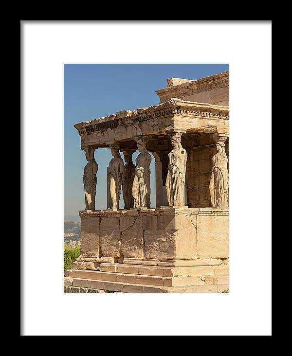 Photography Framed Print featuring the photograph Athens, Attica, Greece. Porch by Panoramic Images