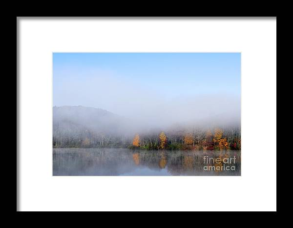 Lake Framed Print featuring the photograph Autumn Mist On Lake by Thomas R Fletcher