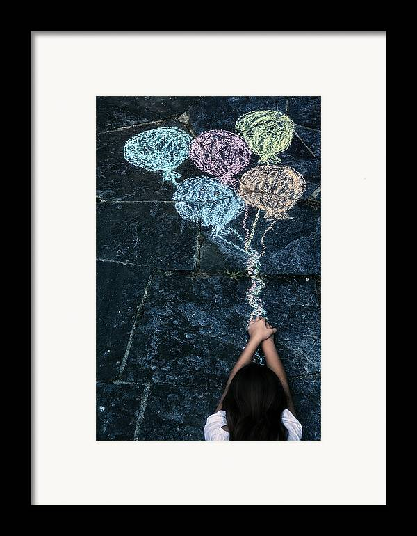 Girl Framed Print featuring the photograph Balloons by Joana Kruse