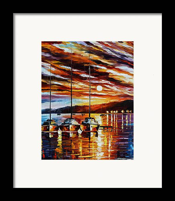 Sea Framed Print featuring the painting 3 Borthers by Leonid Afremov