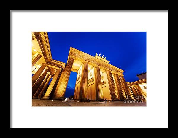Brandenburg Framed Print featuring the photograph Brandenburg Gate Berlin Germany by Michal Bednarek
