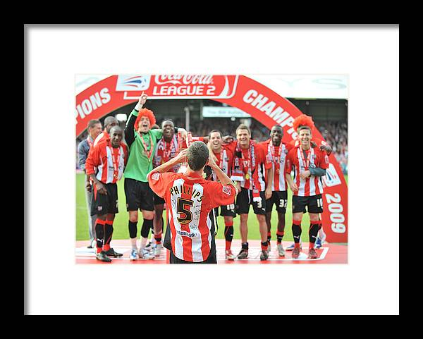 Luton Town F.c. Framed Print featuring the photograph Brentford v Luton Town by Christopher Lee