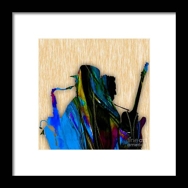 Bruce Springsteen Art Framed Print featuring the mixed media Bruce Springsteen and Clarence Clemons by Marvin Blaine