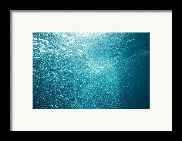 Sea Framed Print featuring the photograph Bubbles Underwater by Stuart Westmorland