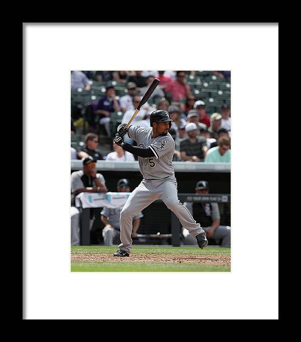 American League Baseball Framed Print featuring the photograph Chicago White Sox V Colorado Rockies 3 by Doug Pensinger