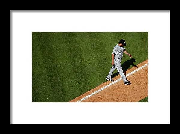 Robin Ventura Framed Print featuring the photograph Chicago White Sox V Houston Astros 3 by Scott Halleran