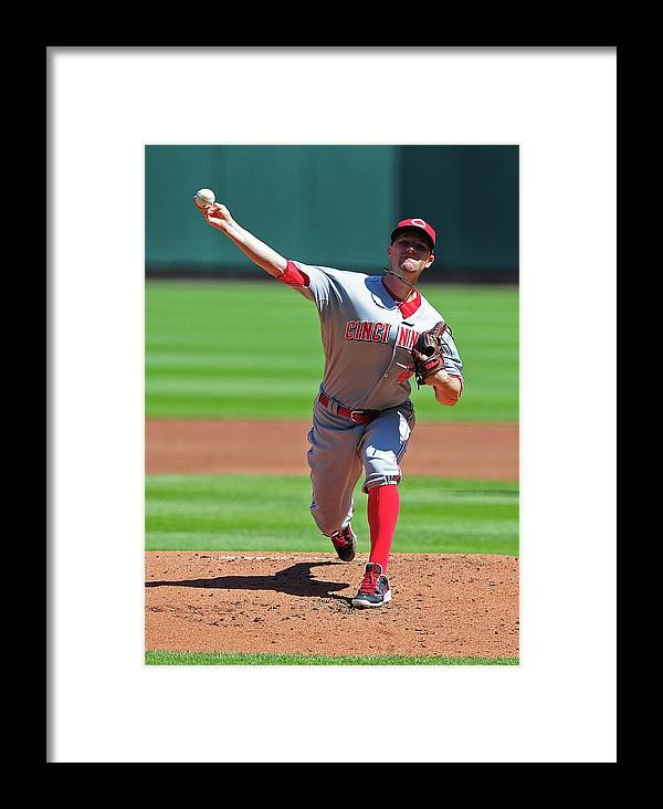 Mike Leake Framed Print featuring the photograph Cincinnati Reds V St. Louis Cardinals 3 by Jeff Curry