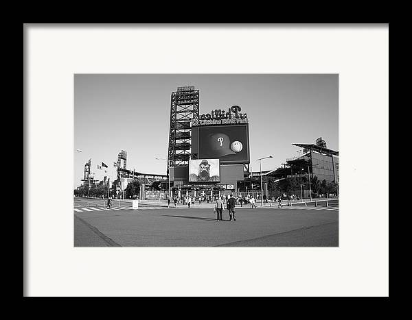 America Framed Print featuring the photograph Citizens Bank Park - Philadelphia Phillies by Frank Romeo