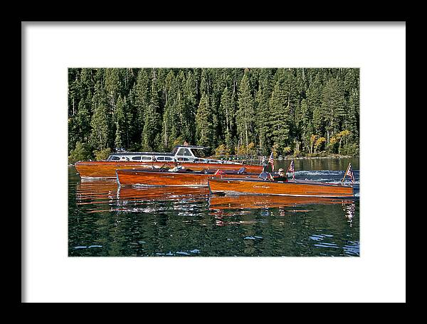 Classic Wooden Boats Framed Print featuring the photograph Show Boats by Steven Lapkin