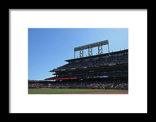 San Francisco Framed Print featuring the photograph Colorado Rockies V. San Francisco Giants 3 by Brad Mangin