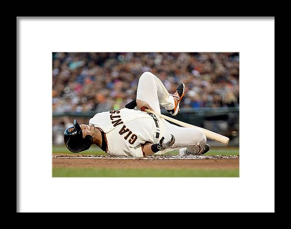 San Francisco Framed Print featuring the photograph Colorado Rockies V San Francisco Giants by Thearon W. Henderson