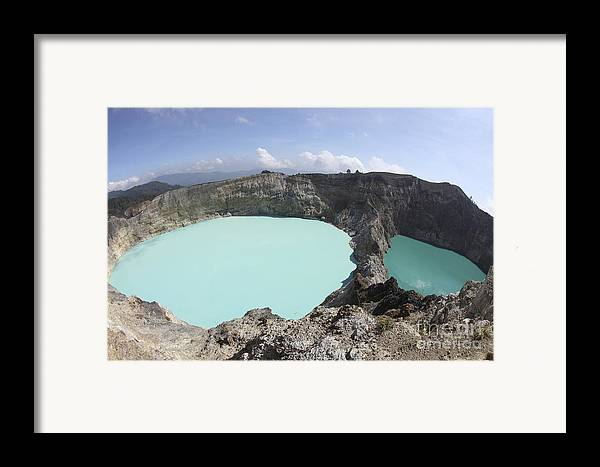 Horizontal Framed Print featuring the photograph Colourful Crater Lakes Of Kelimutu by Richard Roscoe