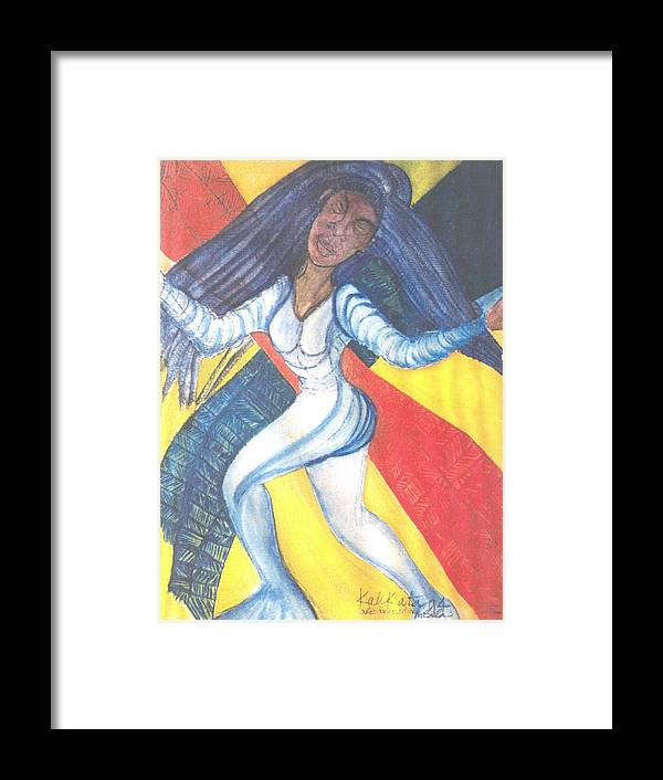 Framed Print featuring the painting Dancer by Kalikata MBula