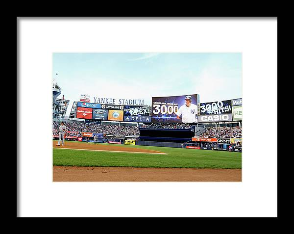 People Framed Print featuring the photograph Detroit Tigers V New York Yankees 3 by Al Bello