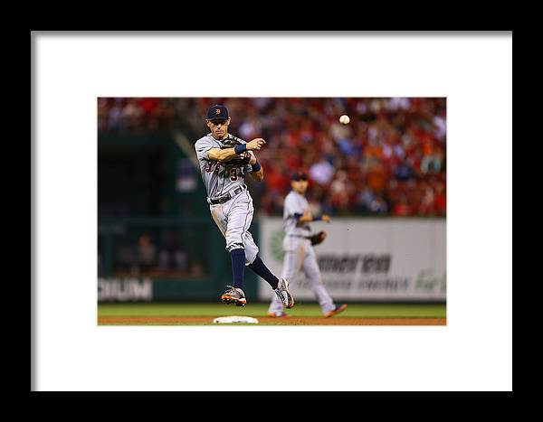 People Framed Print featuring the photograph Detroit Tigers V St Louis Cardinals 3 by Dilip Vishwanat