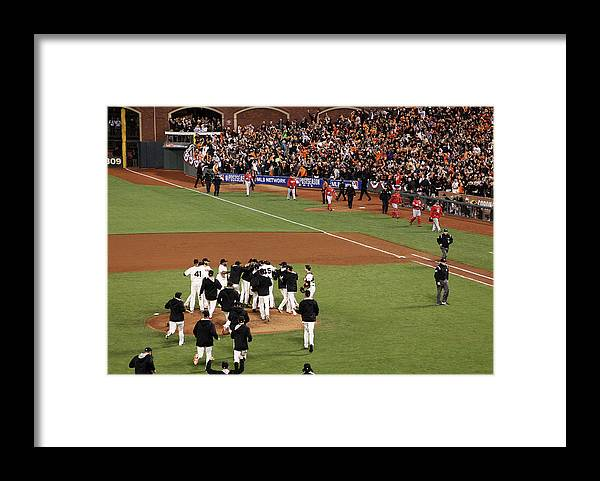 San Francisco Framed Print featuring the photograph Division Series - Washington Nationals by Ezra Shaw