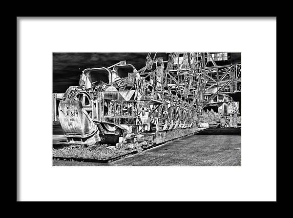 Excavator Framed Print featuring the photograph excavator in Ferropolis by Thomas Schreiter