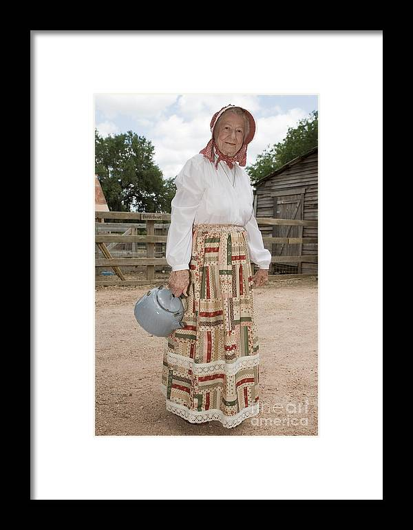 70s Framed Print featuring the photograph Farm Woman by Jim Pruitt