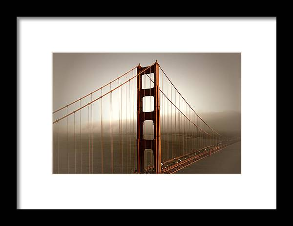 America Framed Print featuring the photograph Lovely Golden Gate Bridge by Melanie Viola