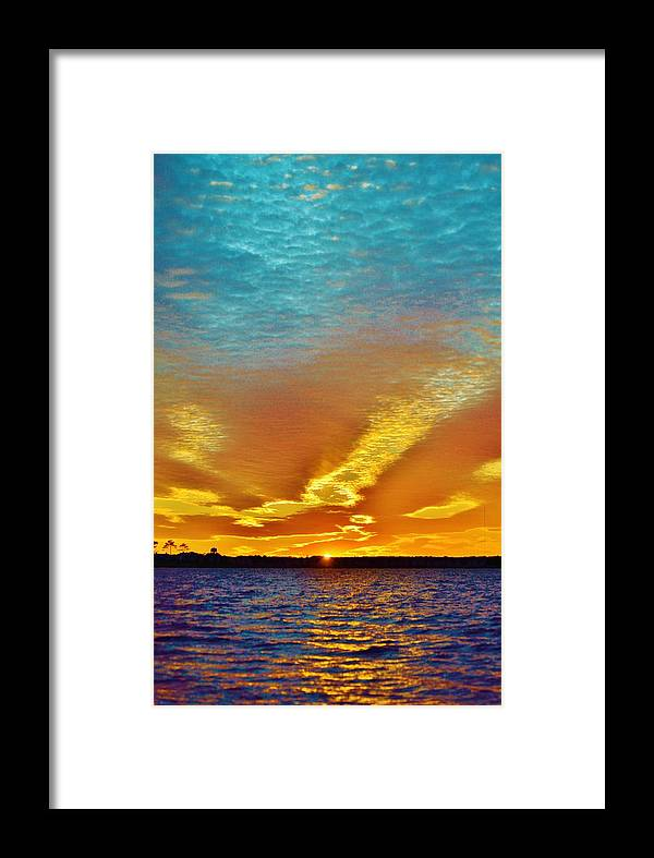 Beach Bum Pics Framed Print featuring the photograph 3 Layer Sunset by William Bartholomew