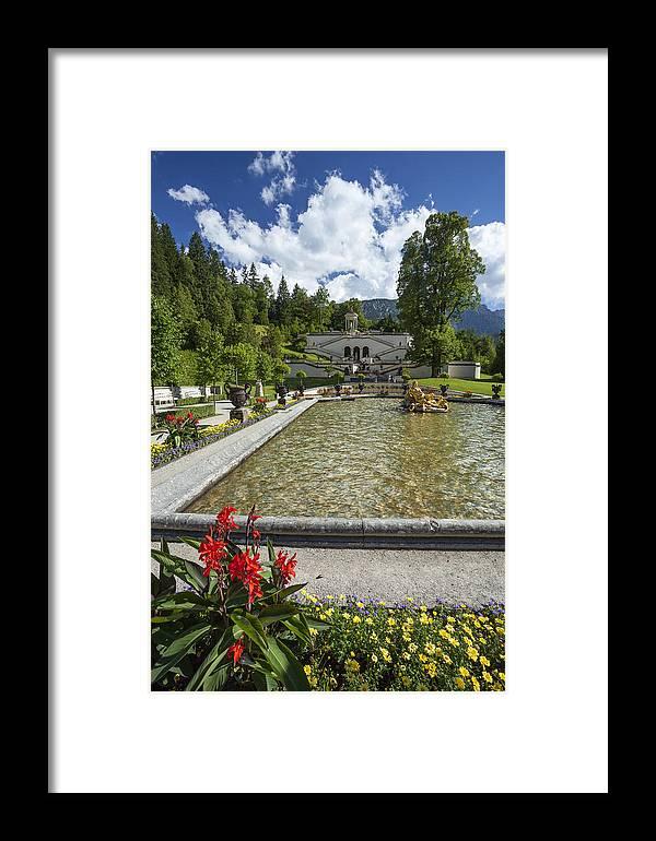Linderhof Framed Print featuring the photograph Linderhof And Royal Garden by Radka Linkova