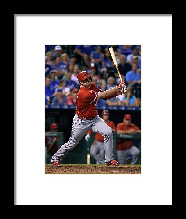 Ninth Inning Framed Print featuring the photograph Los Angeles Angels Of Anaheim V Kansas by Ed Zurga