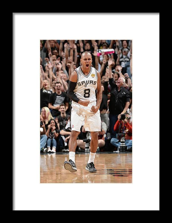 Playoffs Framed Print featuring the photograph Miami Heat V San Antonio Spurs - 2014 by Andrew D. Bernstein