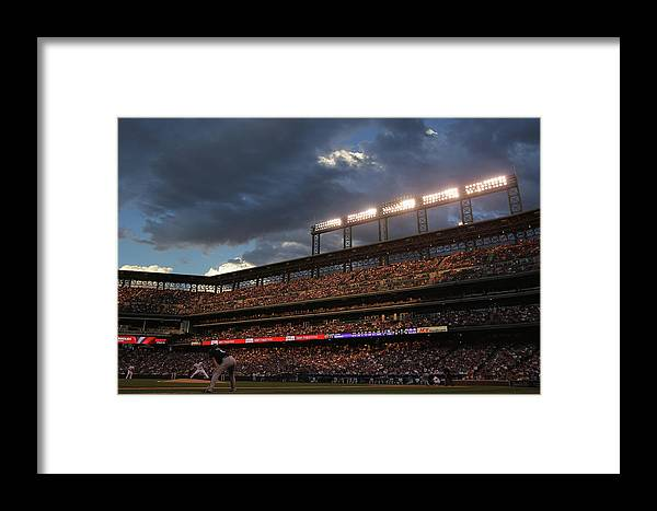 National League Baseball Framed Print featuring the photograph Milwaukee Brewers V Colorado Rockies by Doug Pensinger
