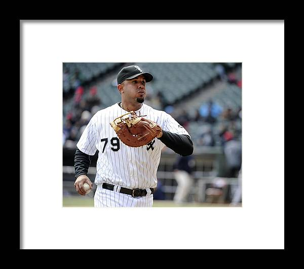 American League Baseball Framed Print featuring the photograph Minnesota Twins V Chicago White Sox by Ron Vesely