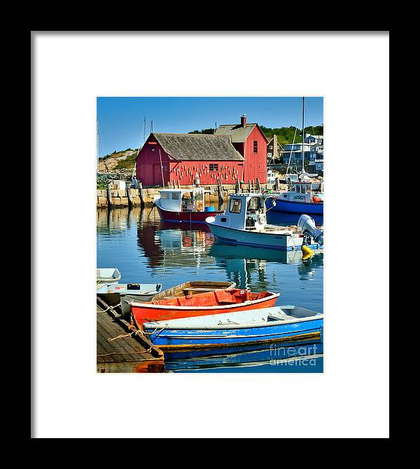 Rockport Framed Print featuring the photograph Motif Number One Rockport Lobster Shack Maritime by Jon Holiday