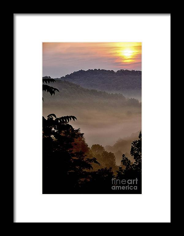 Sunrise Framed Print featuring the photograph Mountain Sunrise by Thomas R Fletcher