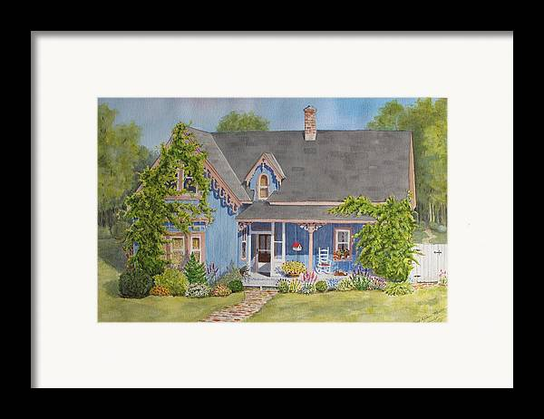 Canada Framed Print featuring the painting My Blue Heaven by Mary Ellen Mueller Legault