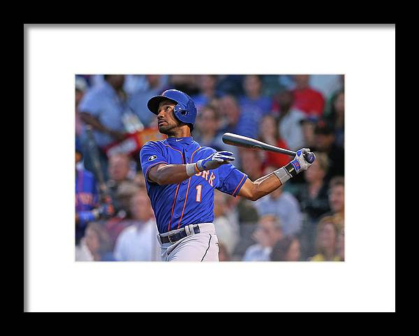 National League Baseball Framed Print featuring the photograph New York Mets V Chicago Cubs by Jonathan Daniel