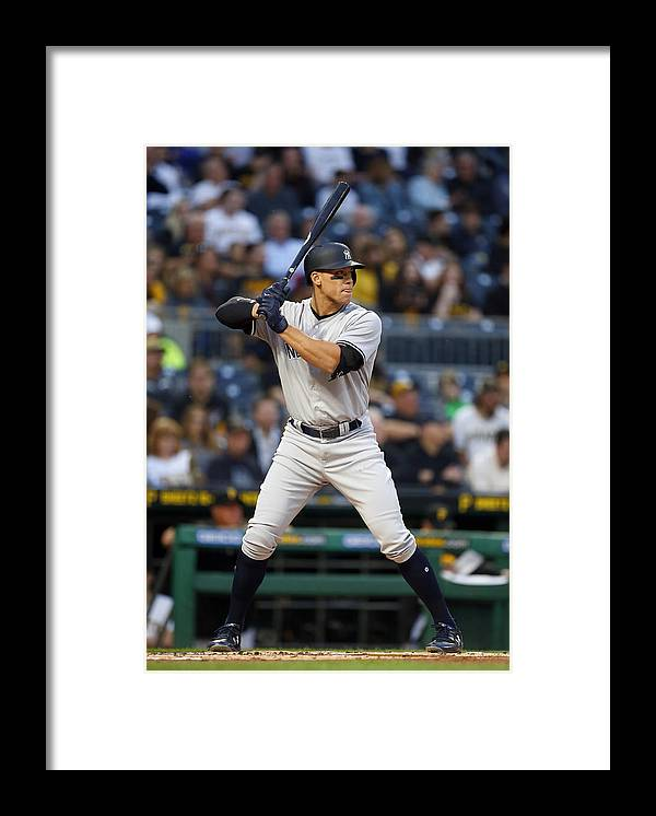 People Framed Print featuring the photograph New York Yankees v Pittsburgh Pirates by Justin K. Aller