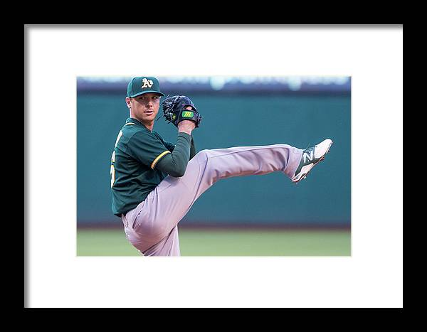 American League Baseball Framed Print featuring the photograph Oakland Athletics V Cleveland Indians 3 by Jason Miller