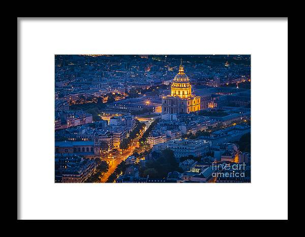 Buildings Framed Print featuring the photograph Paris Overhead by Brian Jannsen