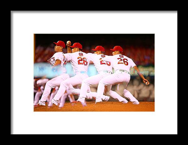 St. Louis Cardinals Framed Print featuring the photograph Philadelphia Phillies V St Louis by Dilip Vishwanat