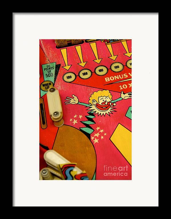 Indoors Framed Print featuring the photograph Pinball Machine by Bernard Jaubert