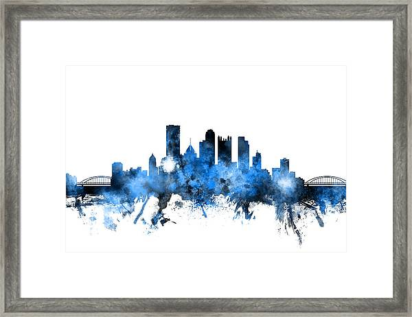 Pittsburgh Pennsylvania Skyline Framed Print By Michael