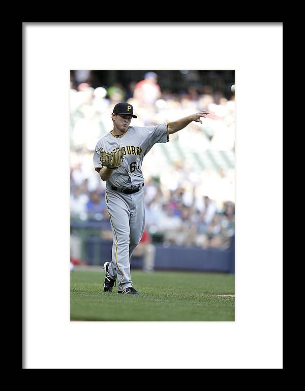 Wisconsin Framed Print featuring the photograph Pittsburgh Pirates V Milwaukee Brewers by Mike McGinnis