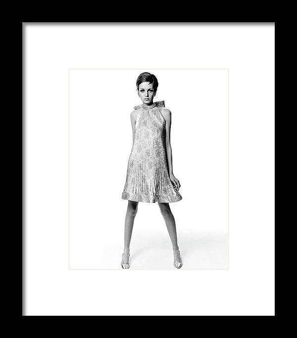 Fashion Framed Print featuring the photograph Portrait Of Twiggy 3 by Bert Stern