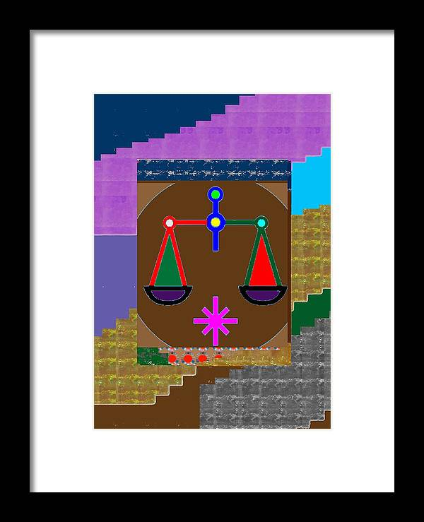 Template Framed Print featuring the painting Pure Decorations Zodiac Symbol Art by Navin Joshi