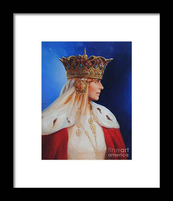 Queen Marie Of Romania Framed Print featuring the painting Queen Marie Of Romania by George Alexander