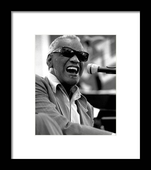 classic Framed Print featuring the photograph Ray Charles by Retro Images Archive